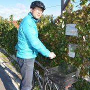 Christian Fischer mit Fahrrad