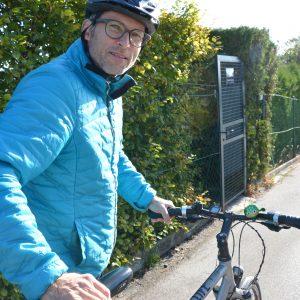 Christian Fischer mit Fahrradhelm
