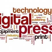 Digital press word cloud concept by lculig